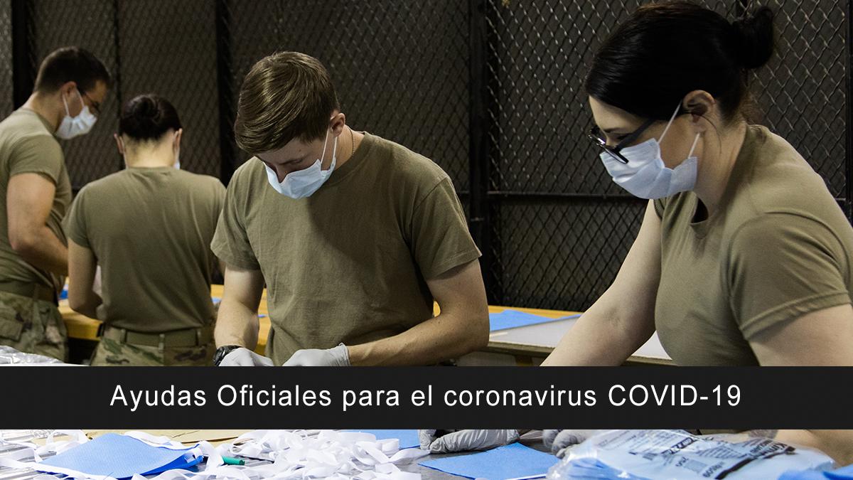 Ayudas Oficiales para el coronavirus COVID-19