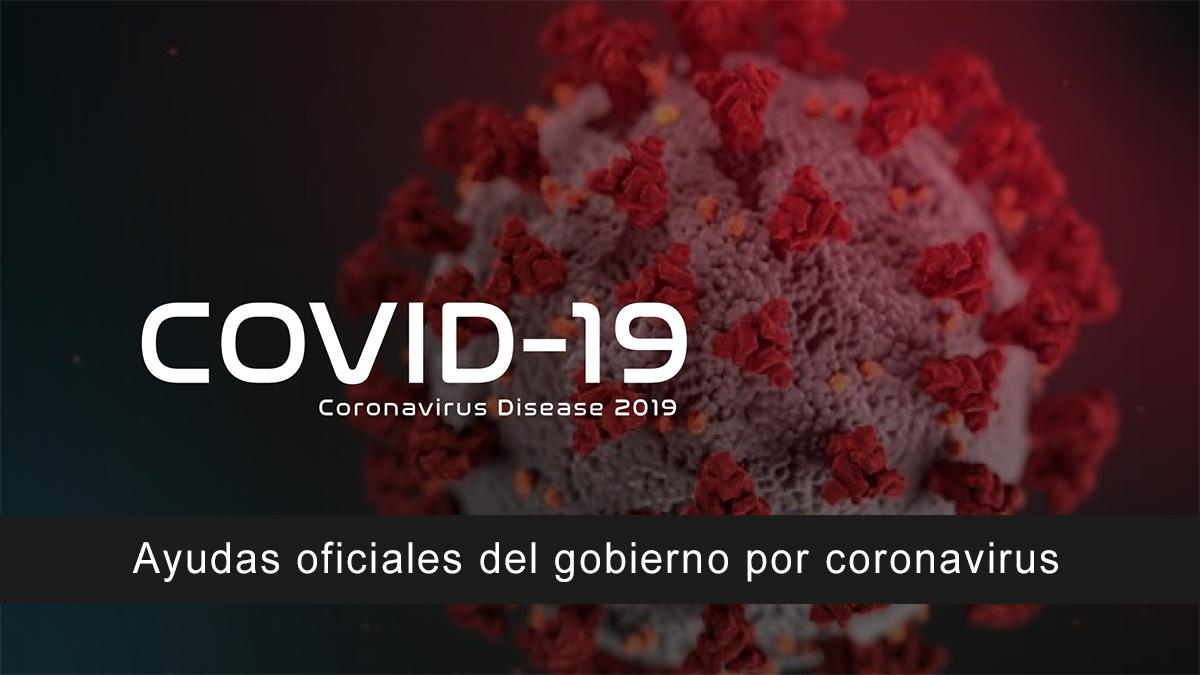 Ayudas oficiales del gobierno por coronavirus