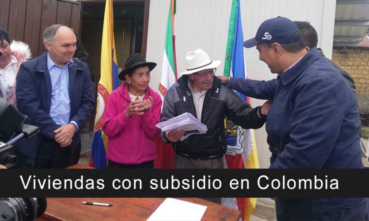 Viviendas con subsidio en Colombia