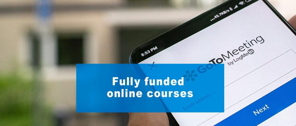 Fully funded online courses