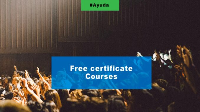 Free certificate courses