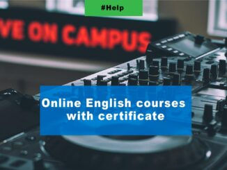 Online English courses with certificate