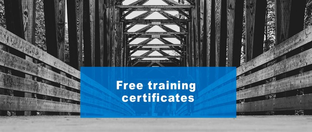 Free training certificates