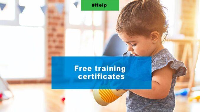 Free training certificates